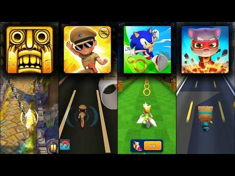 Temple Run 2 Sky Summit Vs Little Singham Vs Sonic Dash Vs Talking Tom Hero Dash - Endless Run Games