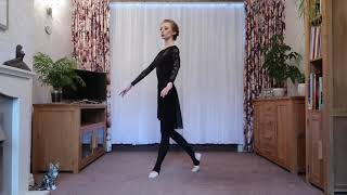 Silver Swans ballet at home with Licensee Johanna Hadley, filmed during lockdown