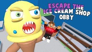 Fugindo da Sorveteria do mal:Escape The Ice Cream Shop Obby! Roblox Buga Brothers