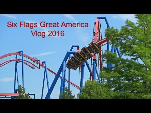 Six Flags Great America Vlog 2016
