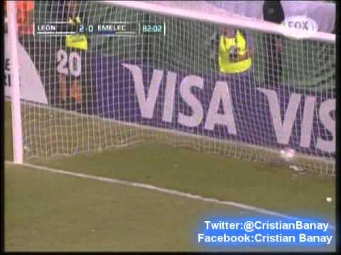 Leon 3 Emelec 0 (Relato Ariel Helueni) Copa Libertadores 2014 Los goles (19/3/2014)