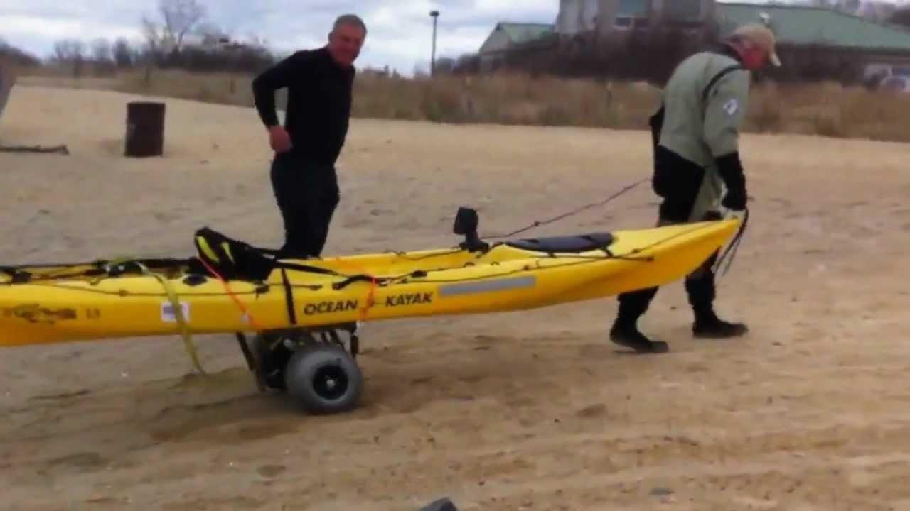 Electric Golf Caddy >> Electric Kayak Cart - YouTube