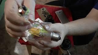 Видео обзор 10-ти ватной светодиодной филаментной лампы Томича