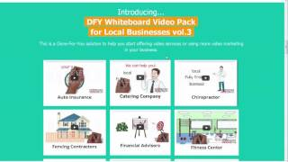 DFY Whiteboard Video Pack for Local Businesses vol 3 reviews and Bonus & 70%Discount