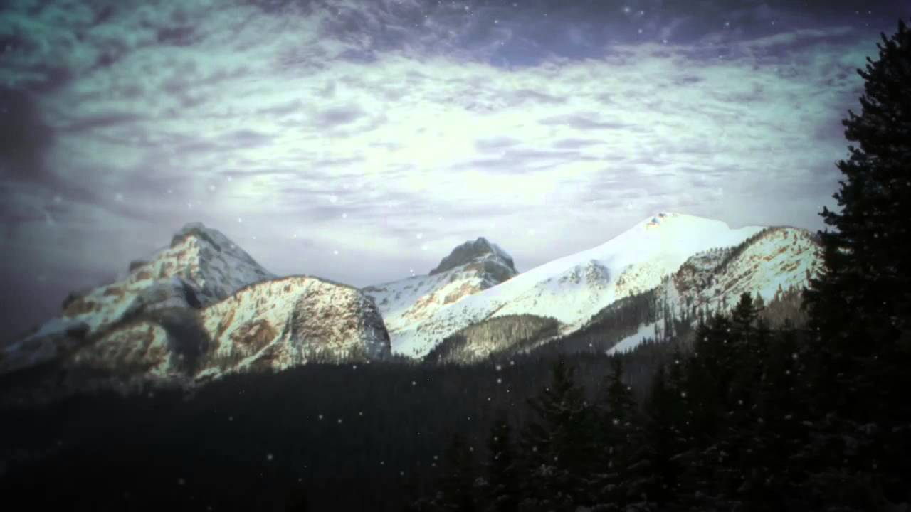 Snowy Mountain Moving Background - Free Worship Loops