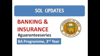 Banking & Insurance I Important Questions I SOL