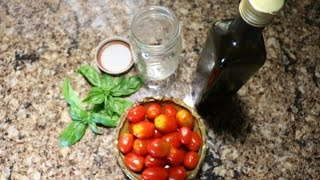 CHERRY TOMATO FERMENTING WITH BASIL