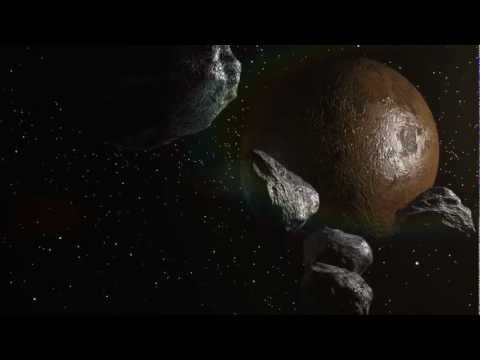 Asteroids heading to planet (AFTERFX ELEMENT 3D)
