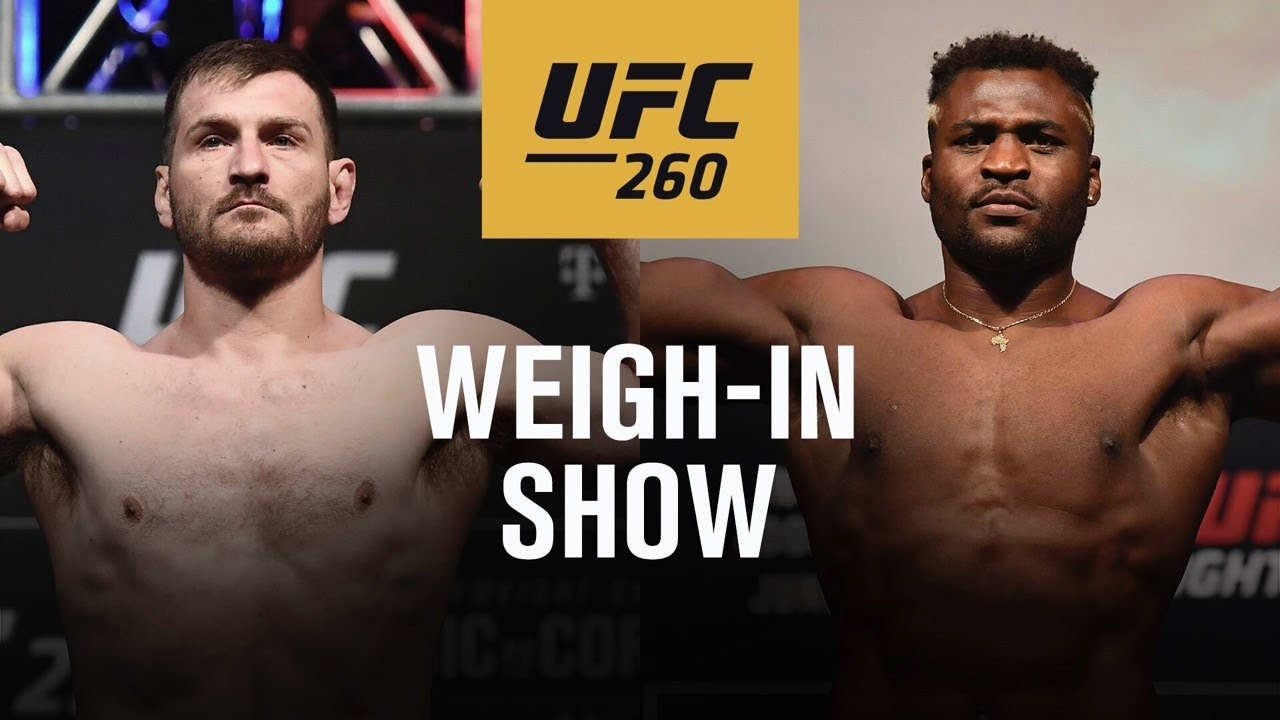 UFC 260: Live Weigh-in Show