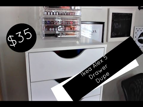 $35 Ikea Alex 5 Drawer Dupe | Affordable Makeup Collection Storage