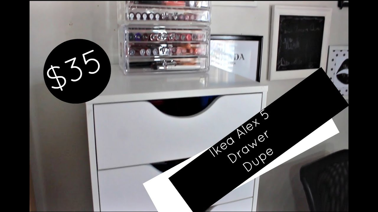 35 Ikea Alex 5 Drawer Dupe Affordable Makeup Collection