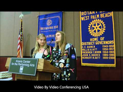 W Palm Beach Rotary Club exchange students explain their experience