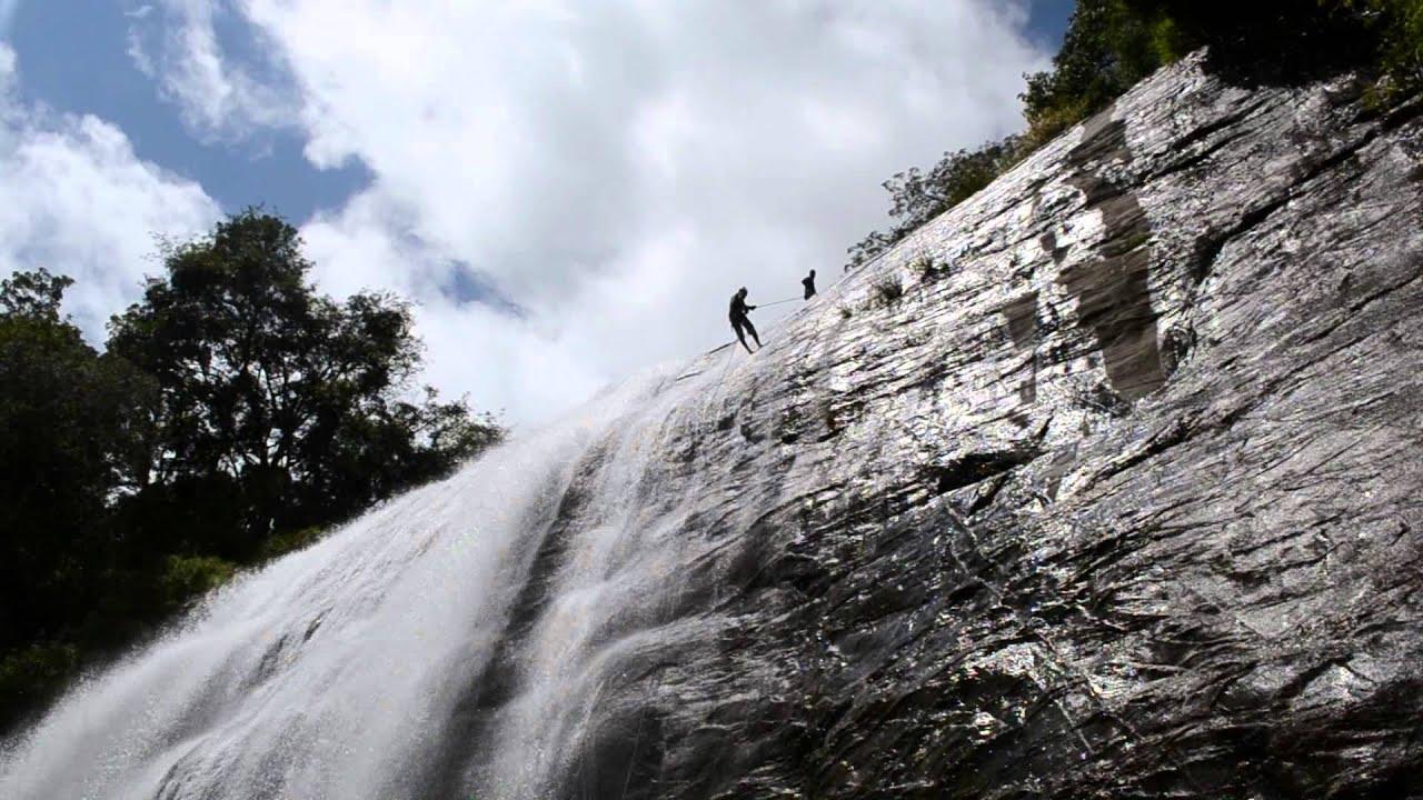 Waterfall rappelling ontario