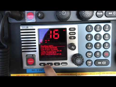 How To Use A Marine VHF - Ship's Equipment - Cadet`s Training