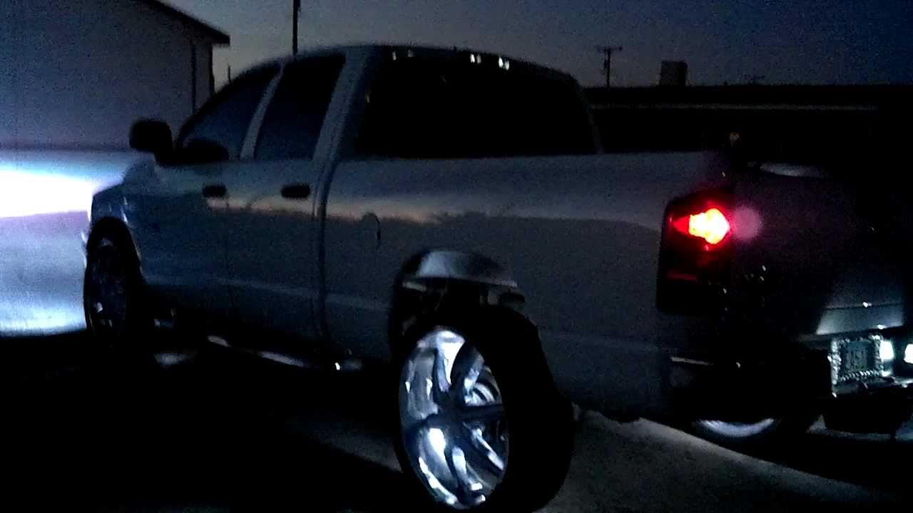 "2012 Dodge Ram 1500 Headlights >> My dodge ram on 26"" helo wheels - YouTube"