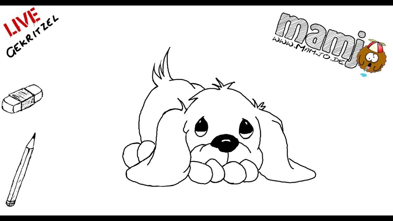 274 Zeichne Einen Süßen Kleine Hund Tutorial Online Photoshop Kurz Zeichnen Skizze Zeichnung