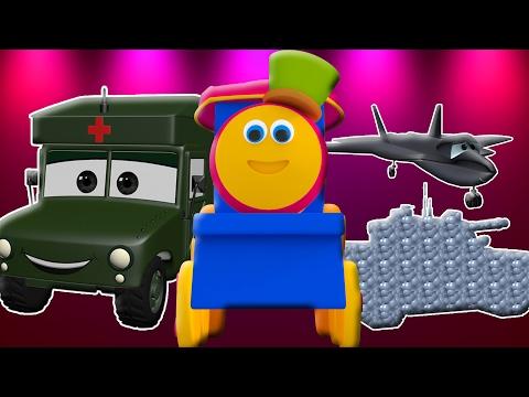 bob der Zug | Besuch Armee-Lager | Kinder-Videos | 3D Kids Videos | Bob The Train | Visit Army Camp