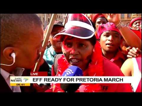 EFF members gather for Pretoria march