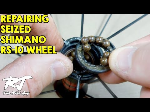 Repairing Seized Shimano RS-10 Front Wheel Hub