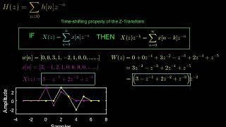 An explanation of the z transform part 4  - the transfer function