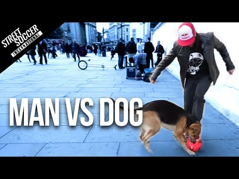 MAN vs DOG - Sean Garnier vs Chien - Panna London Pt1