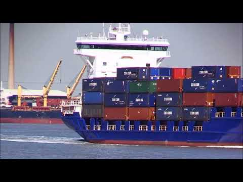 ENCOUNTER, Feeder Container Ship, 25/06/2018, Thames Shipping by R.A.S.