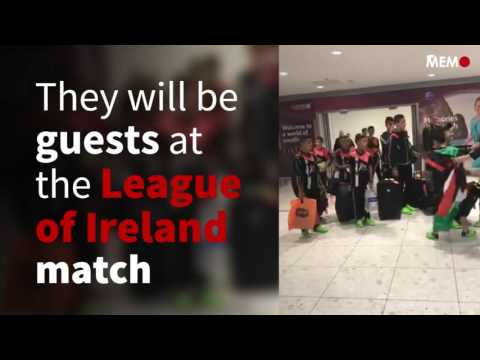 Gaza football team lands in Ireland