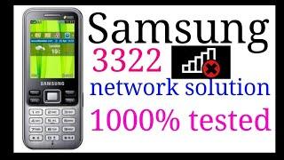 Samsung GT c 3322i network problem हिन्दी में  Samsung c3322  no network || Samsung c 3322i network.