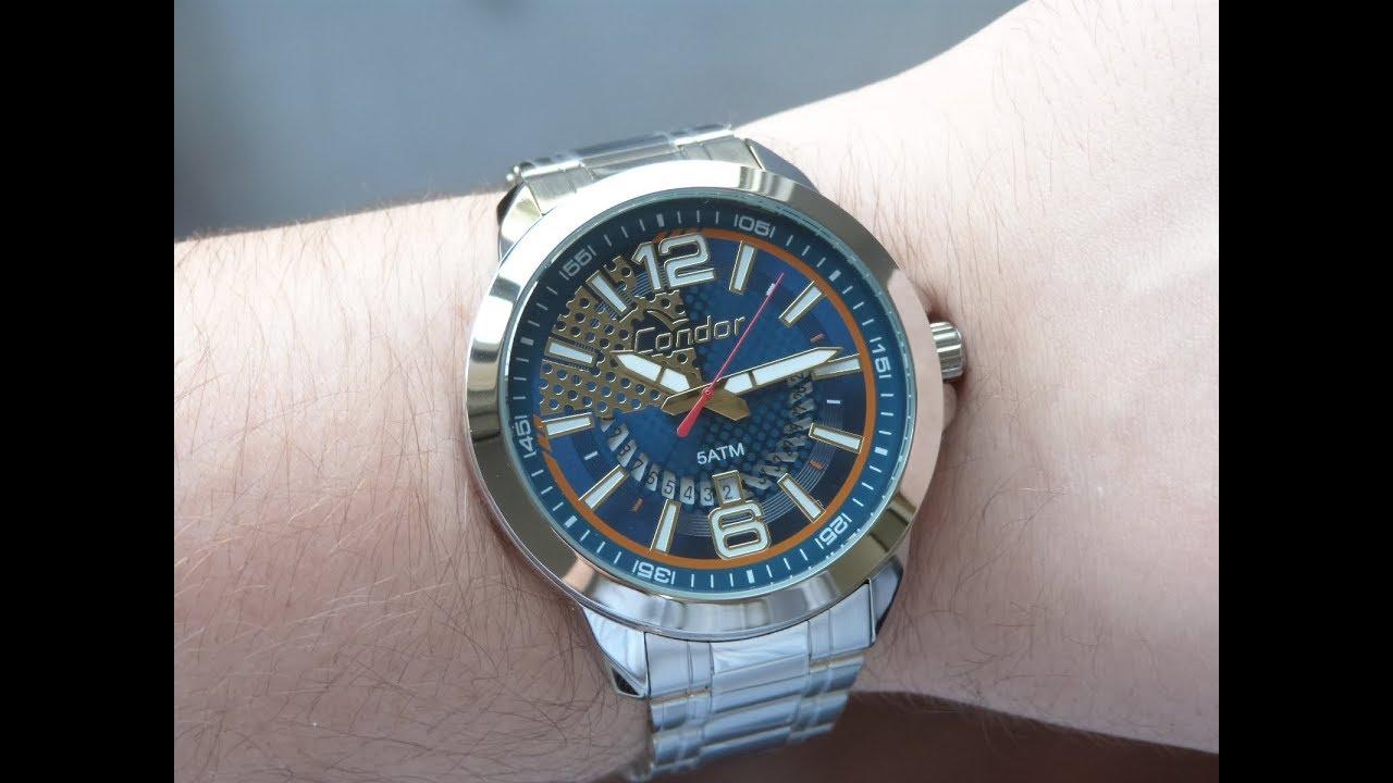 fd5ebcadb24 Relógio Masculino Esportivo Condor CO2115XI 3A Speed em Aço - YouTube