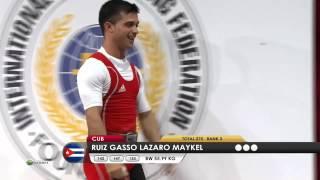 RUIZ GASSO Lazaro Maykel 3j 153 kg cat. 56 World Weightlifting Championship 2013