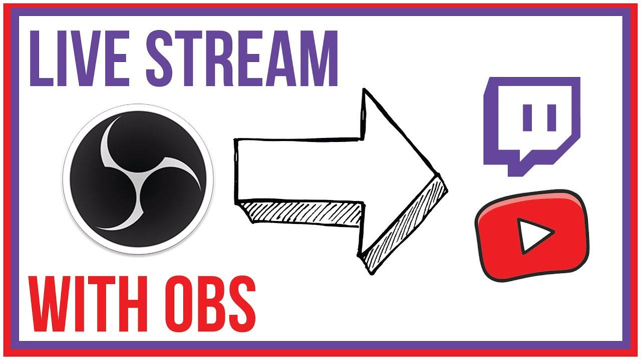How To Use OBS Studio To Live Stream - Twitch and YouTube
