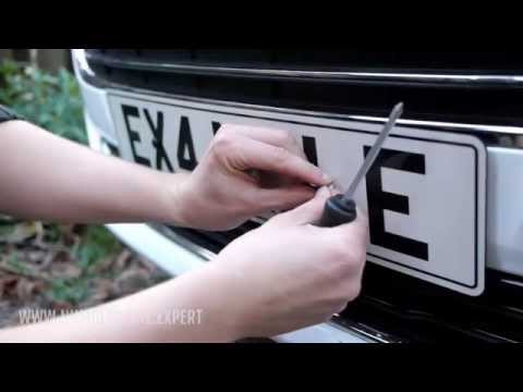 How to attach a number plate to a car [the screw method]