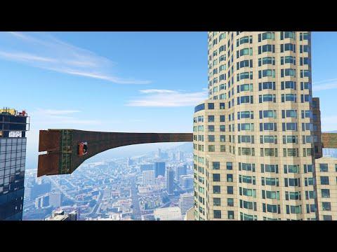 WALLRIDE AROUND BUILDINGS! (GTA 5 Funny Moments)
