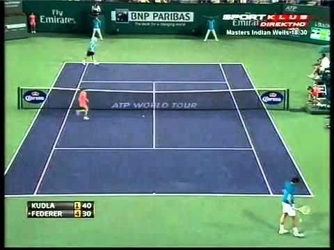 R.Federer vs D.Kudla Indiana Wells 2012 Highlights