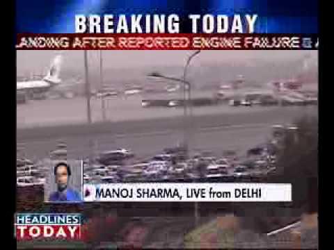 Delhi Plane Makes Emergency Landing India India Today