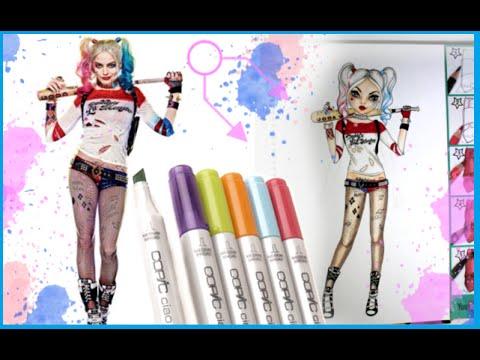 Topmodel Malbuch How To Draw Harley Quinn Malen Copics Foxy Draws