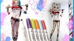 Topmodel Malbuch | How to draw Harley Quinn |  malen | Copics || Foxy Draws