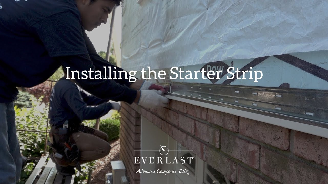 how to install vinyl siding starter strips