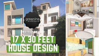 17 X 30 feet House Design with Interior | 510 Sqft House Plan