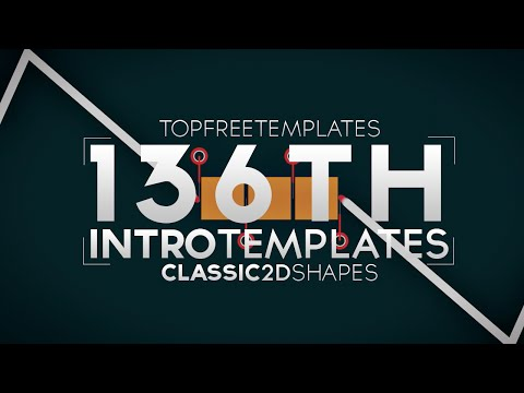 FREE SONY VEGAS Intro Template: Classic 2D Shapes #136 w/Tutorial