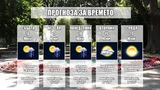 Прогноза за времето на 16 Юни