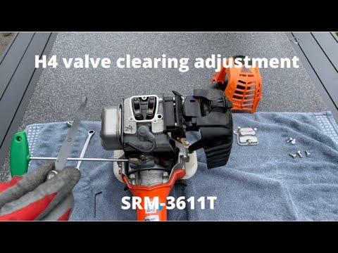 Echo SRM-3611T H4 Valve Clearing Adjustment