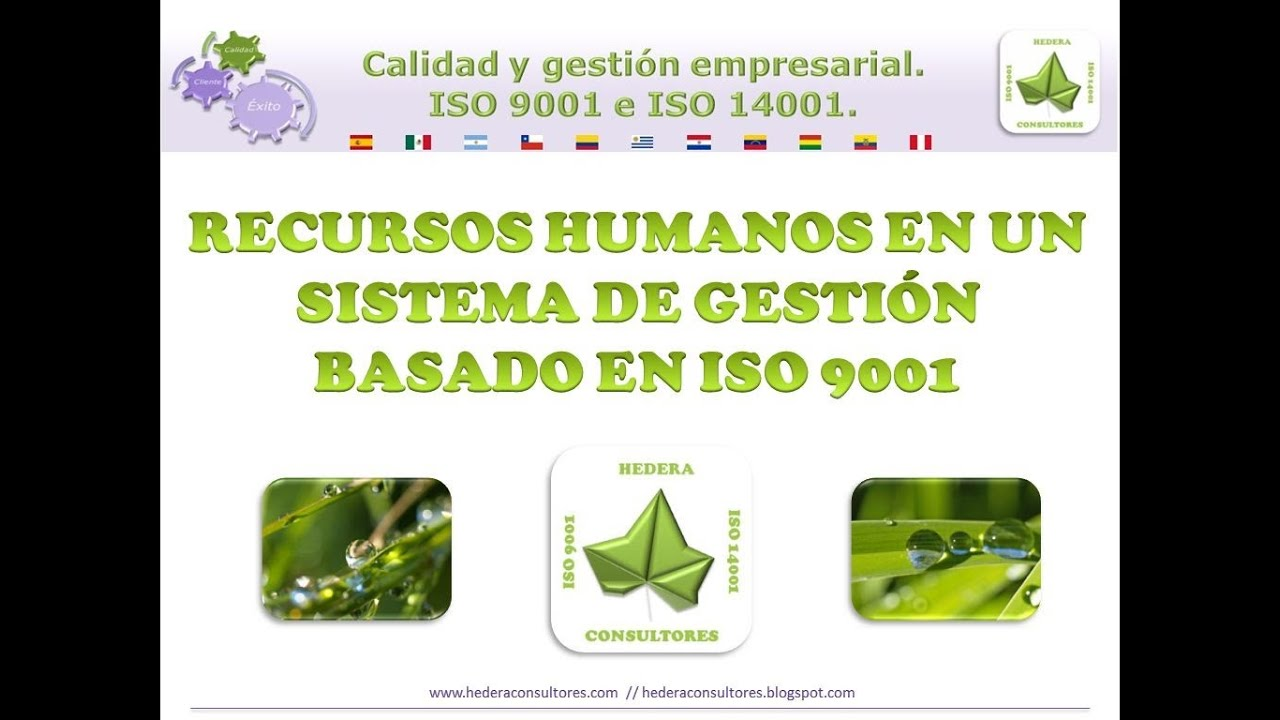 Recursos humanos según la norma ISO 9001 - YouTube