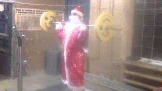 In Russia Even Ded Moroz is a Weightlifter