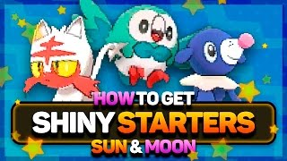 SHINY STARTER POKEMON in Pokémon Sun and Moon! How to Get Shiny Starter Pokemon in Sun and Moon!