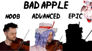 Download lagu 5 Levels of Bad Apple: Noob to Epic