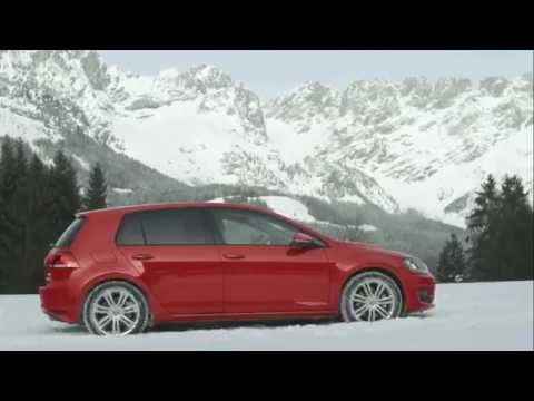 2013 volkswagen golf vii 4motion on the snow driving. Black Bedroom Furniture Sets. Home Design Ideas