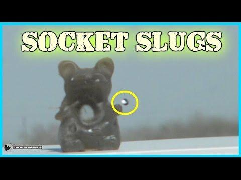 Homemade SOCKET SLUGS - Massive penetration!