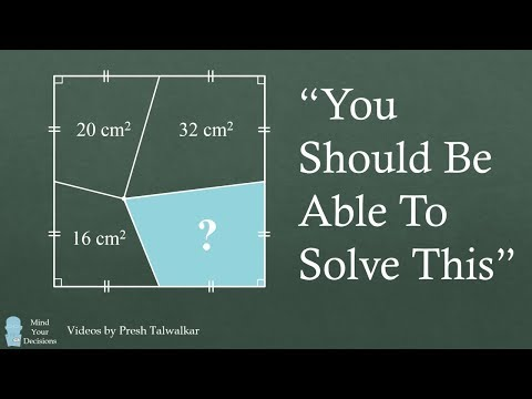 How To Solve For The Area - Viral Math Problem