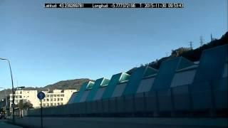 GPS Tracker Raspberry Pi Overlayed in Picamera - Test nº1
